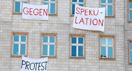 מחאת הדיירים בברלין, צילום: AFP