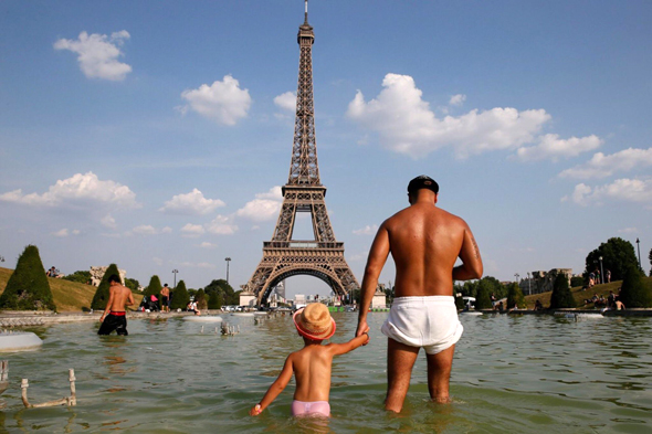 גל חום בפריז, צילום: רויטרס