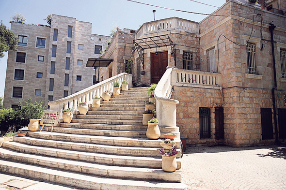 הווילה בשכונת טלביה. מבנה ערבי היסטורי