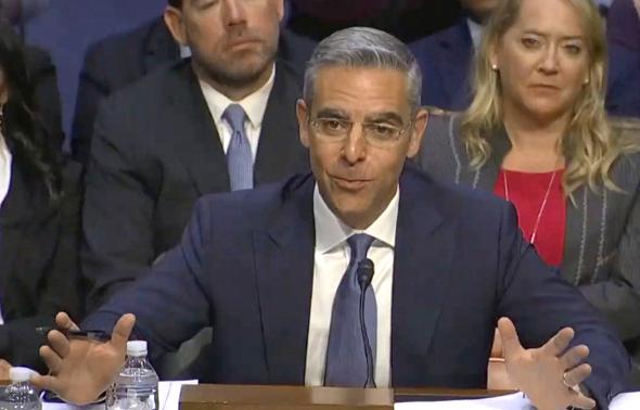 דיוויד מרקוס מעיד בסנאט, צילום: CNBC