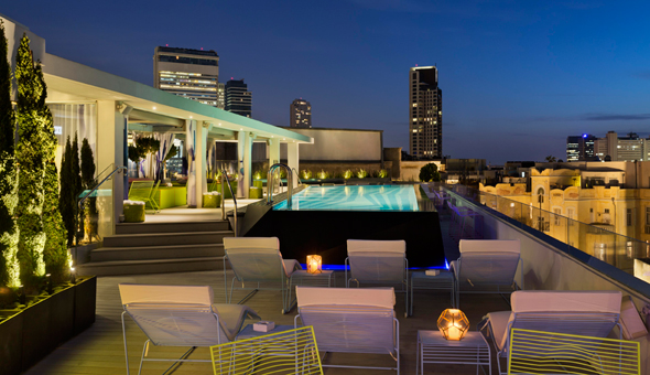 Poli House's rooftop pool. Photo: Assaf Pinchuk, Poli House by Brown Hotels