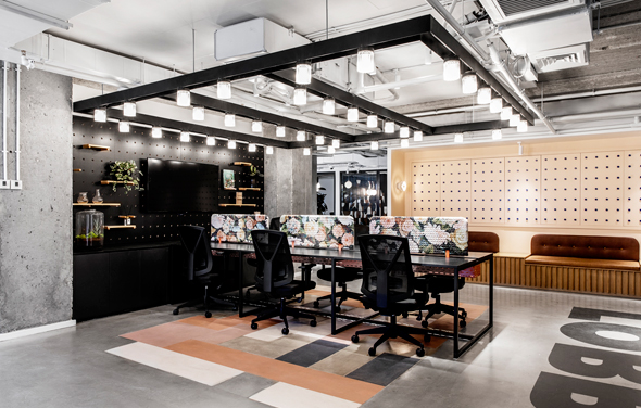 NYX's coworking space ROOMS. Photo: Itay Benit