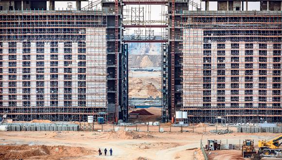עבודות ההקמה של העיר חדשה במצרים, צילום: איי אף פי