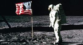 אסטרונאוט באז אולדרין אפולו 11 נחיתה על הירח , צילום: NASA