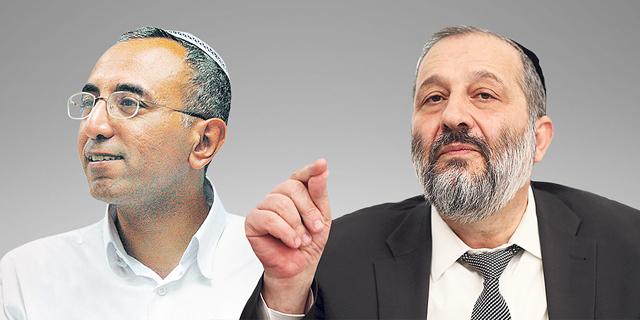 מימין שר הפנים אריה דרעי וראש עיריית קריית גת אבירם דהרי, צילום: עמית שאבי, צפריר אביוב