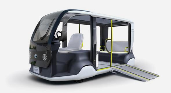 האוטובוס האוטונומי של אולימפיאדת טוקיו מתוצרת טויוטה
