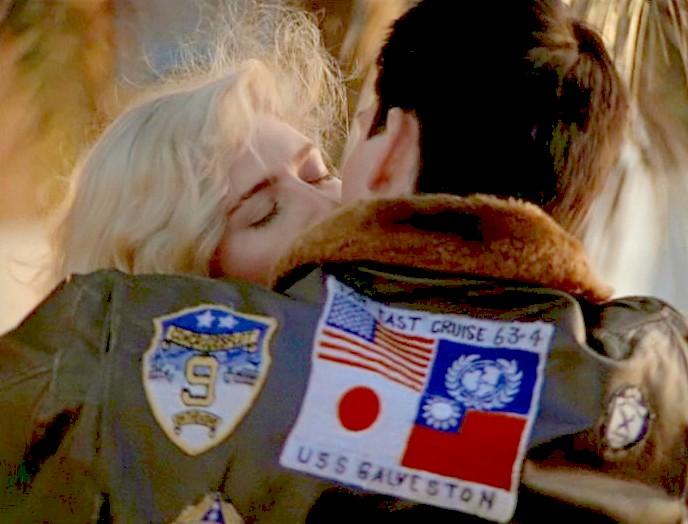 מעיל הטייסים המקורי של מאבריק, בסרט טופ גאן, צילום: Paramount