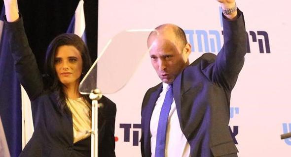 איילת שקד ונפתלי בנט אמש, צילום: ynet