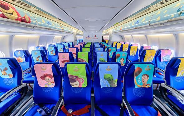 מושבים במטוס של דיסני