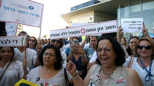 האחיות מפגינות, צילום: אוהד צויגנברג