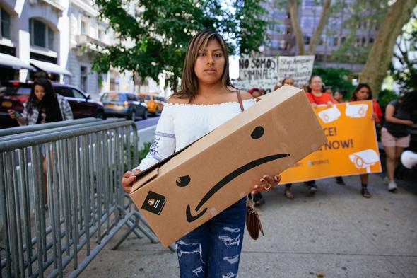 הפגיעה בעובדי אמזון, צילום: גטי