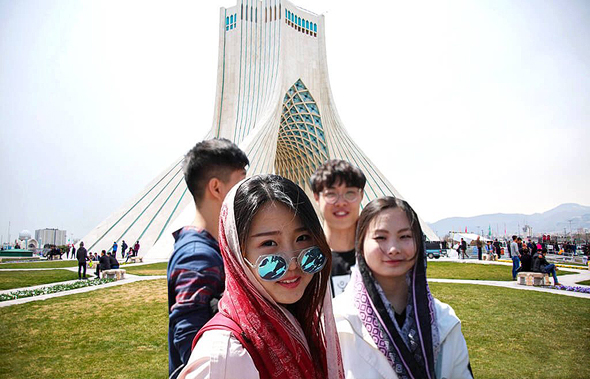 תיירים סינים באיראן, צילום: itto.org