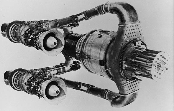 תצורת מנוע סילון אטומי שפותחה בארצות הברית בשנות החמישים, צילום: INL