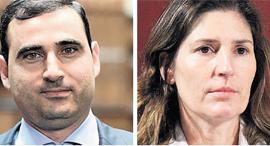 מימין: אורנה אנג'ל, בת זוגו לשעבר של שרון בר, ממנה קיבל את מניות ויטלה; ואמיר דיין, מבעלי השליטה בחברת איי.די.או