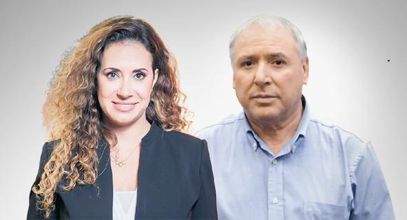 """מימין: שר התקשורת דוד אמסלם ומנכ""""לית HOT טל גרנות גולדשטיין"""