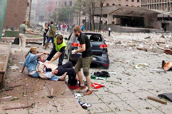 Terror attack in Norway, 2011. Photo: KKT