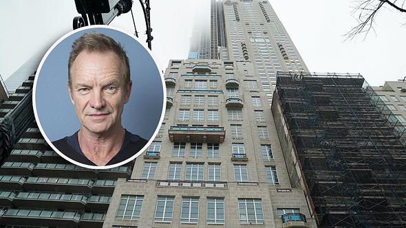"""סטינג על רקע """"מגדל המיליארדרים"""" שבו רכש את הפנטהאוז, צילום: גטי אימג"""