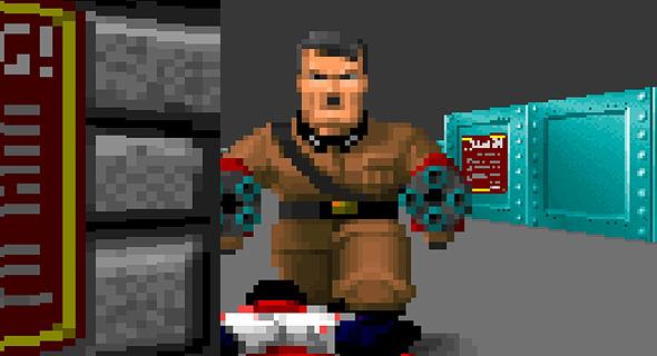 מתוך משחק המחשב Wolfenstein 3D Spear of Destiny Mission 2