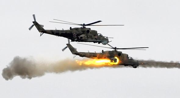 ירי רקטות ממסוק MI24