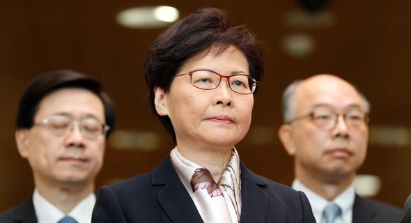 מנהיגת הונג קונג קארי לאם, צילום: רויטרס