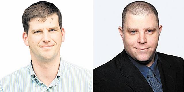 מימין: רן אחיטוב מקרן אנטרי ומייסד קרן אלף מייקל אייזנברג , צילום: עמית שעל