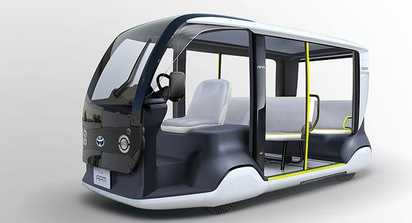 אוטובוס קטן של טויטה, לכבוד המשחקים האולימפיים בטוקיו שנה הבאה