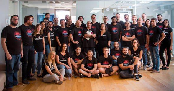 SafeBreach's Team in ISrael. Photo: Omri Shafran