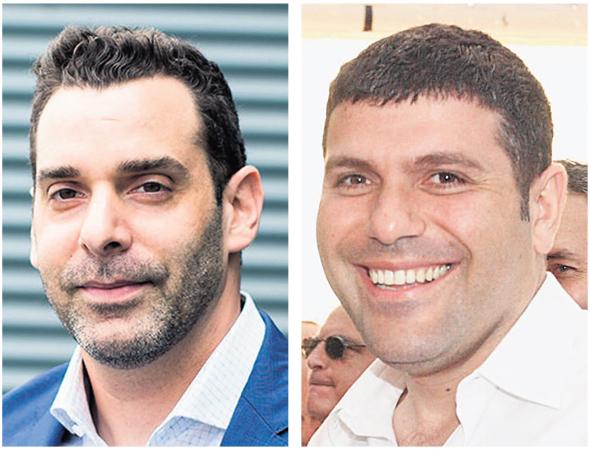 SentinelOne CEO Tomer Weingarten (left), Teddy Sagi.