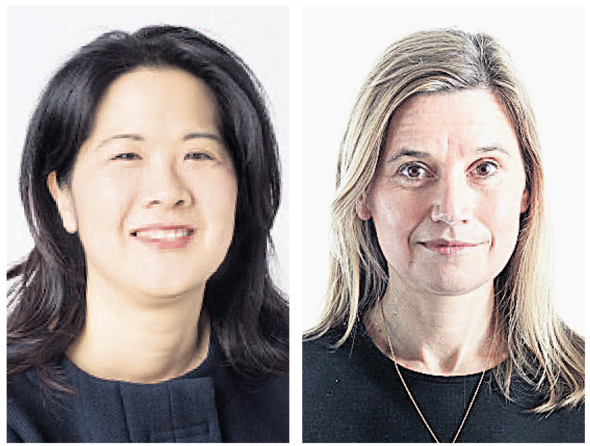 Hearst Ventures managing director Megumi Ikeda (left), Sky PLC chief business development officer Emma Lloyd.