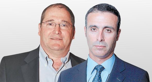 """מימין: מנכ""""ל מנורה מבטחים יהודה בן אסייאג ויו""""ר מגדל ניר גלעד, צילומים: עמית שעל, אוראל כהן"""