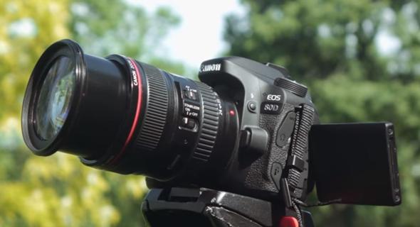 מצלמה מדגם EOS 80D, צילום: YouTube