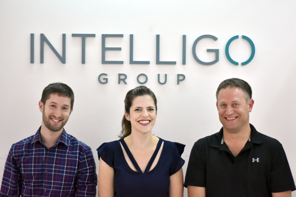 Intelligo's Dana Rakovsky, Shlomo Mirvis, and Nadav Ellinson. Photo: PR