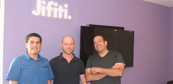 Jifity co-founders Yaakov Matin, Meir Dudai, and Shaul Weisband. Photo: Jifiti,