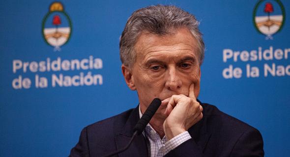 """נשיא ארגנטינה מאקרי. """"האם המדינה בבלגן? כן, אבל תשואות האג""""ח טיפסו גבוה מדי"""", צילום: בלומברג"""