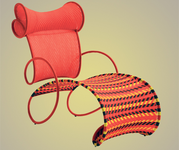 """כיסא בעיצובו מסדרת M'Afrique. """"לא באתי לסנגל ואמרתי ׳זה צריך להיות ככה׳"""", צילום: Joel Matthias Henry"""