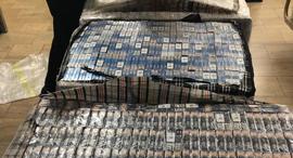"""הברחת סיגריות נתב""""ג 1, צילום: הרשום המסים"""