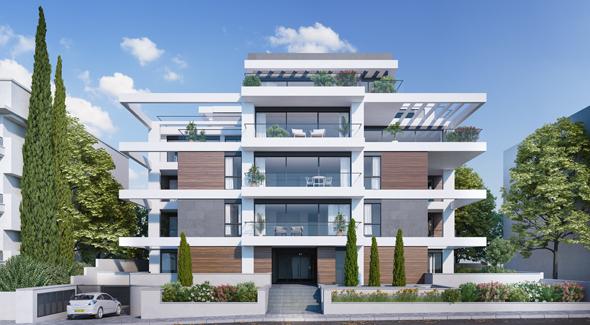 """הדמיית פרויקט מוריה 32. במקום הדירות הישנות, דירות גדולות בשטח של 140 מ""""ר"""