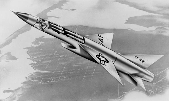 ה-XF103 באוויר