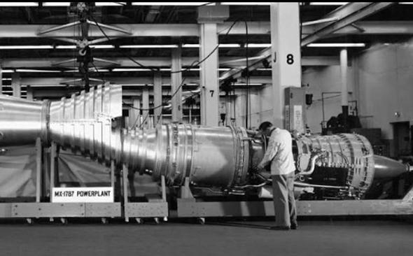 דגם של מנוע המטוס, נבחן בחברת ריפבליק