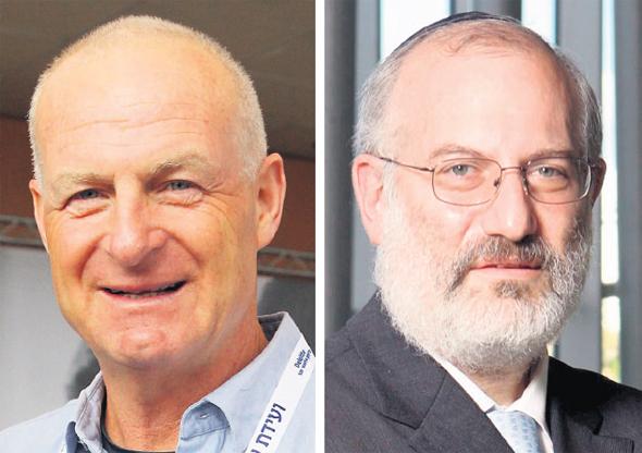 """מימין: בעל השליטה באי.די.בי פתוח אדוארדו אלשטיין והדח""""צ גיורא ענבר, צילומים: אוראל כהן"""