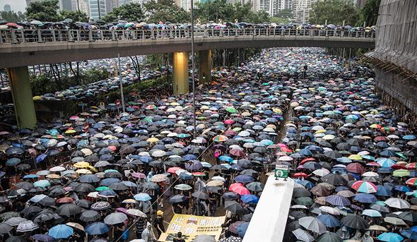 הפגנות בהונג קונג באוגוסט 2019, צילום: גטי אימג
