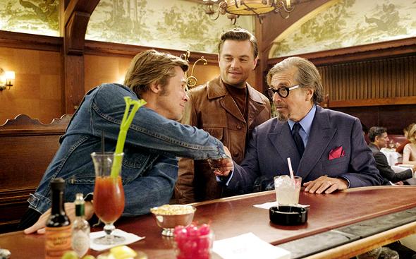 מימין: אל פצ'ינו לאונרדו דיקפריו ובראד פיט. היו זמנים בהוליווד