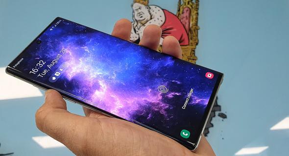 סמסונג גלקסי Note 10 plus סמארטפונים מובייל, צילום: ניצן סדן