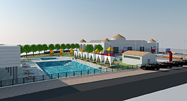 Simulation of the planned country club in Zemer. Photo: Zidan Engineering Ltd.