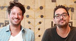 פנאי מימין אסף ליס ו אלון פרידמן  בעלים של המגרב, צילום: אוראל כהן