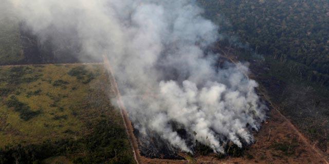 אחת השריפות באמזונס, צילום: רויטרס