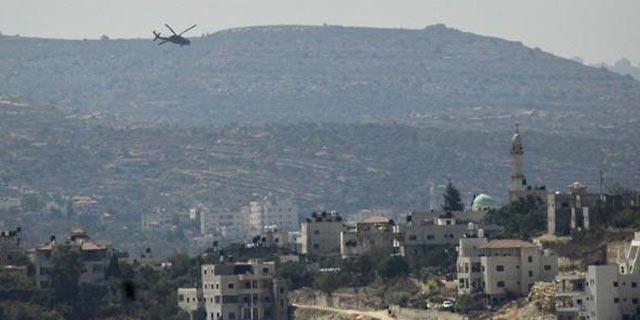 מסוק בזירת הפיגוע, צילום: טל אהרונוביץ, TPS)