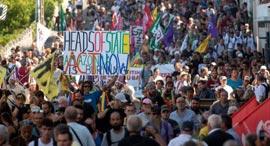 מחאה הפגנה פסגת 7G צרפת 1, צילום: איי פי