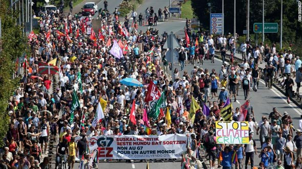 המפגינים, צילום: איי פי