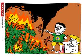 קריקטורה 26.8.19, איור: צח כהן